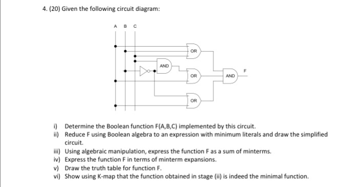 Solved  Given The Following Circuit Diagram  I  Determine