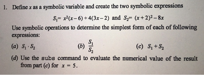 symbolic variables The extension involves support for instances that can bind to multiple objects and  symbolic variables that can bind to arbitrary values the result is a powerful.