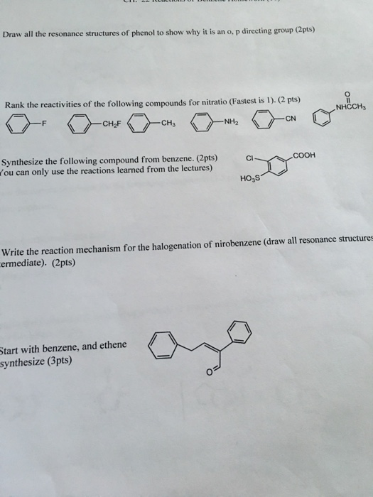 Phenol synthesise