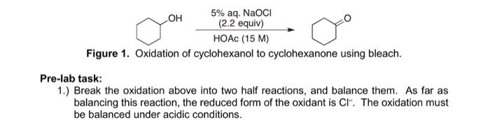 oxidation of cyclohexanol to cyclohexanone