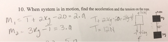 how to find acceleration and tension