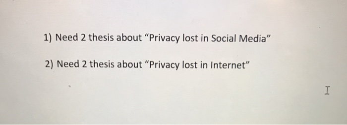 Thesis about privacy