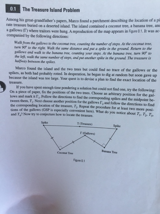 Treasure Island Problem Geometry