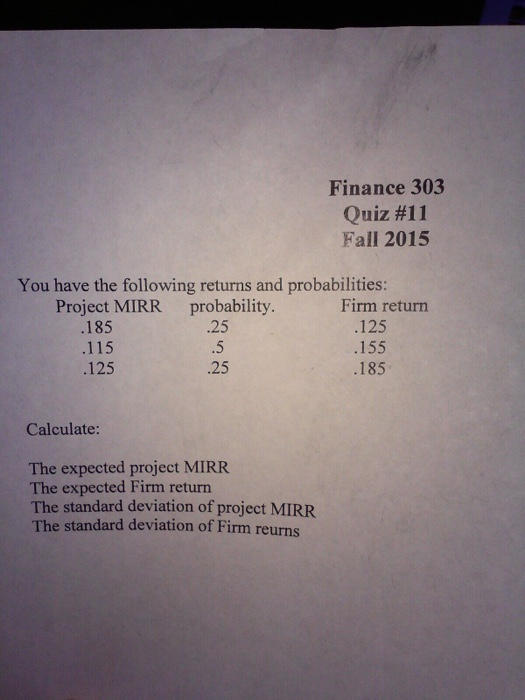 Finance homework help asap