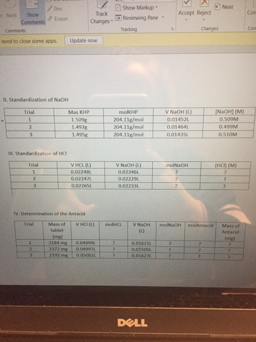 standardization of naoh and determination of Preparation and the standardization of the naoh solution 1338g of naoh  determination of the total acidity of vinegar by acid-base titration 2500 ml of the .