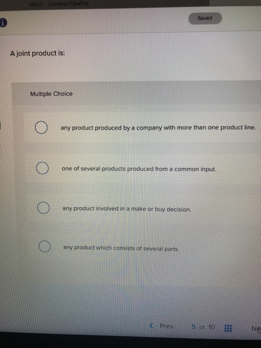 Accounting archive november 28 2017 chegg saved a joint product is multiple choice any product produced by a company with more than fandeluxe Images