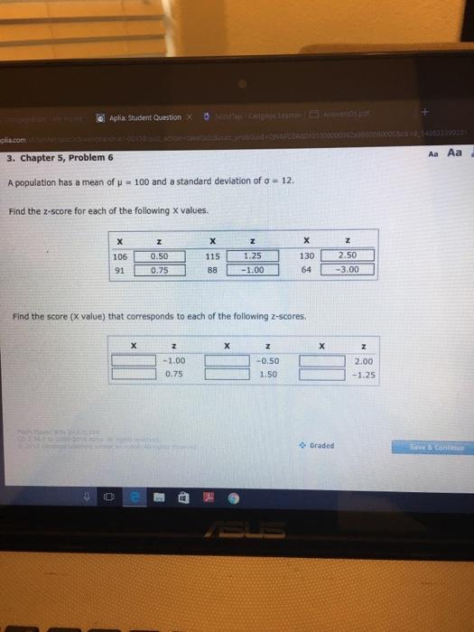 Aplia homework answers statistics