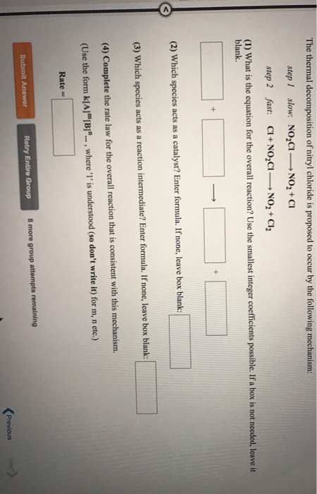 Chemistry coursework which equation is correct