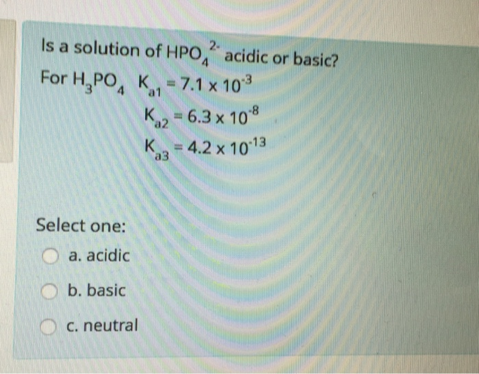 how to tell if a solution is acidic or basic