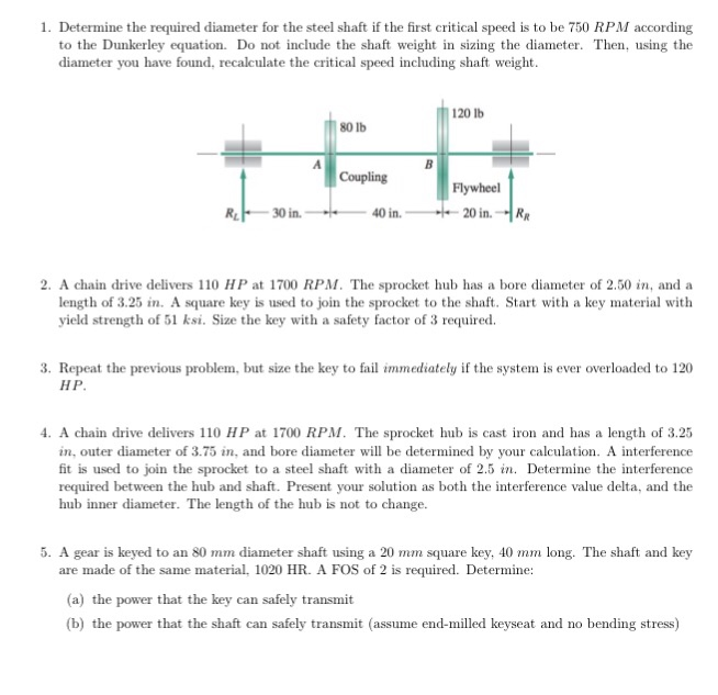 Solved Determine The Required Diameter For The Steel Shaf Graph and Velocity Download Free Graph and Velocity [gmss941.online]