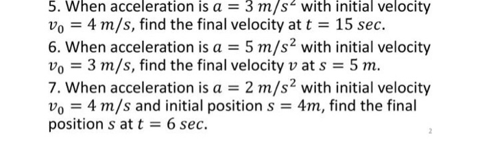 how to find final velocity without initial velocity