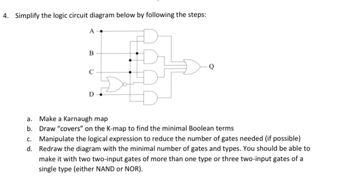 Solved Simplify The Logic Circuit Diagram Below By Follow