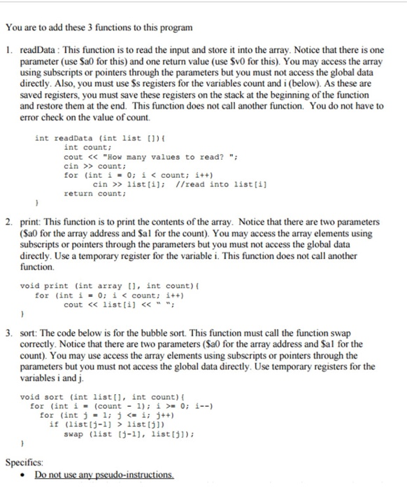 mips pseudo instructions list