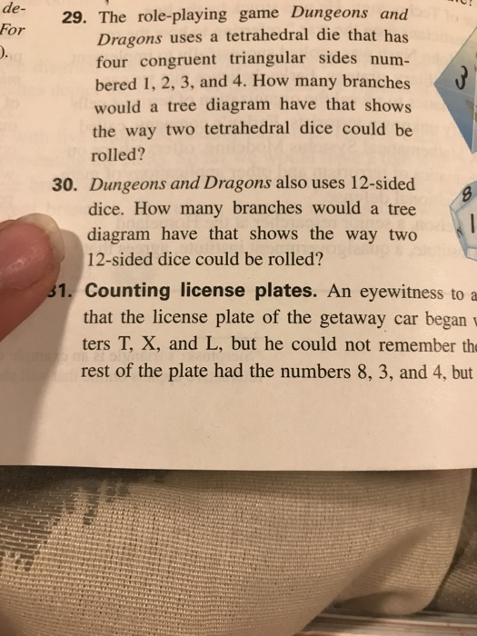 Solved the role playing game dungeons and dragons uses a the role playing game dungeons and dragons uses a tetrahedral die that ccuart Choice Image