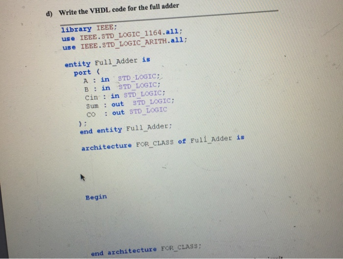 How to write vhdl code