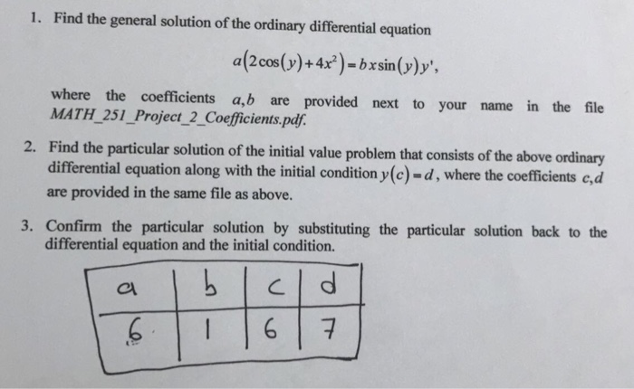 general solution of differential equation pdf