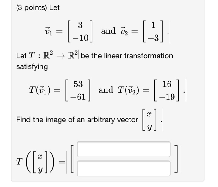 how to find the image of a linear transformation