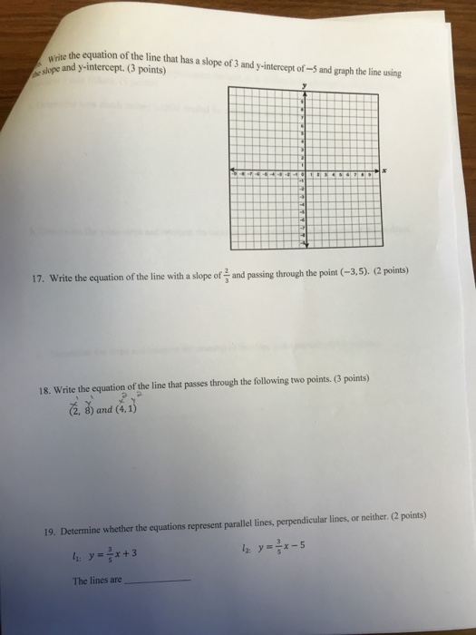Algebra archive december 07 2017 chegg vite the equation of the line hat has a slope of 3 and rimtercep oadgrhtei sing fandeluxe Choice Image