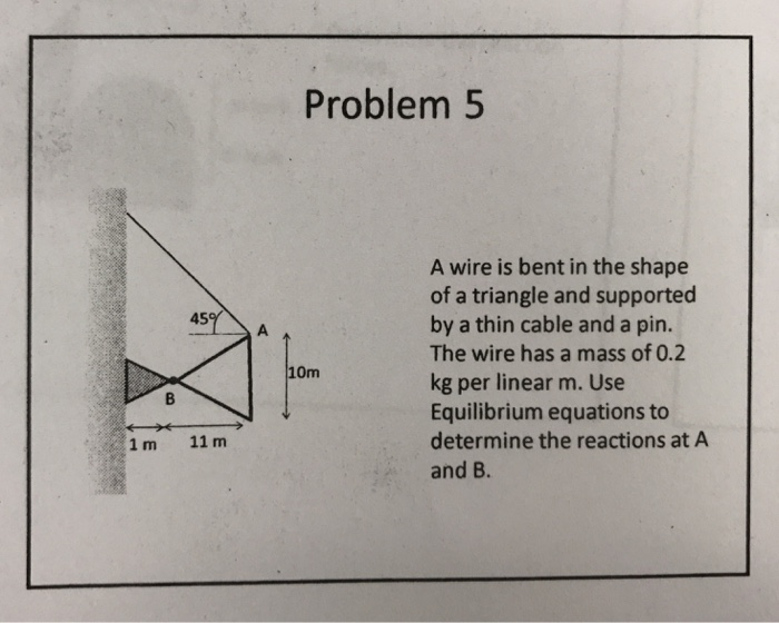 Solved: Problem5 A Wire Is Bent In The Shape Of A Triangle ...