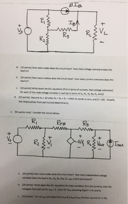 Solved  How Many Nodes Does The Circuit Have  How Many Vol
