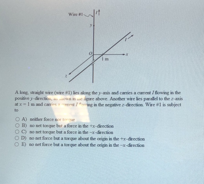 Solved: Wire #? 1 M A Long, Straight Wire (wire #1) Lies A ...