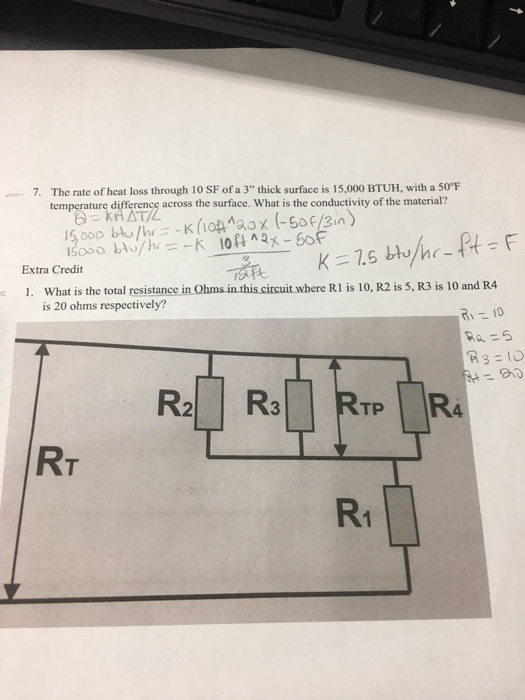 Electrical engineering archive december 18 2017 chegg the rate of heat loss through 10 sf of a 3 thick surface is 15000 btuh keyboard keysfo Images