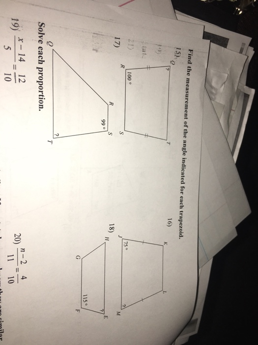 how to find measurements of a trapezoid