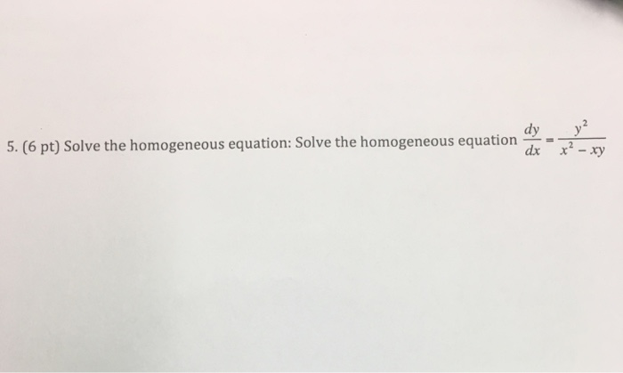 how to solve homogeneous equations