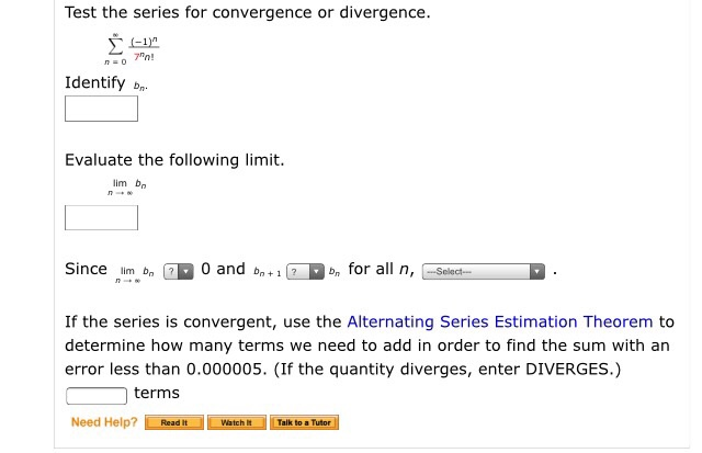test for convergence of series pdf