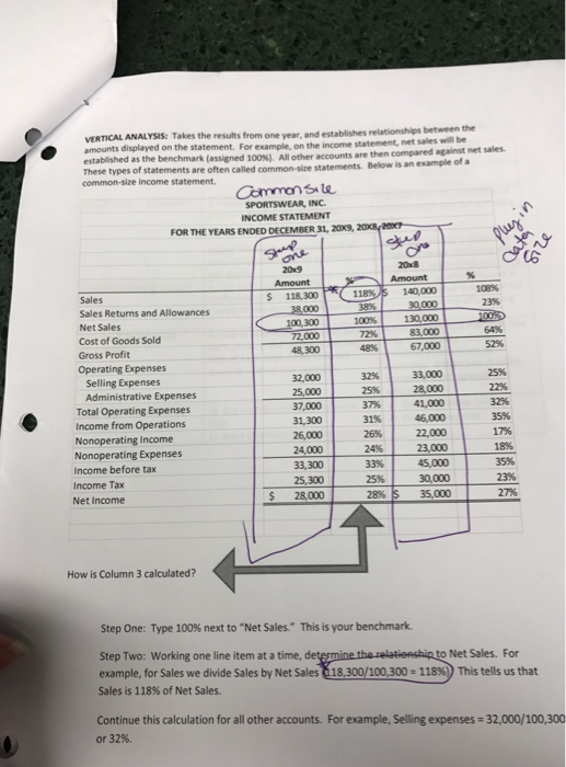 Show Transcribed Image Text Mini Project #2 Financial Statement Analysis  PURPOSE OF PROJECT: To Analyze The Balance Sheet And Income Statement Using  ...