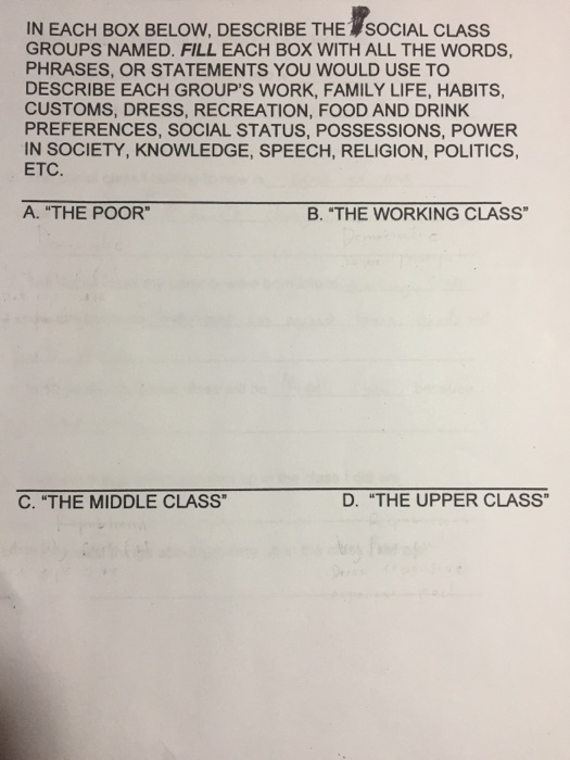 dating below social class To follow up on this new face of poverty, have students use their social class, social change, and poverty student esheet to go to jerry's story.