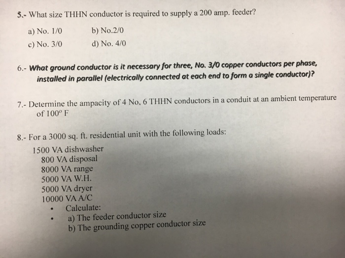 Thhn wire size calculator image collections wiring table and 5 what size thhn conductor is required to supply chegg what size thhn conductor is required keyboard keysfo Gallery