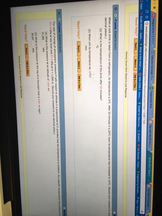 Math          Part   Webassign Solutions   r liiw Q      Part