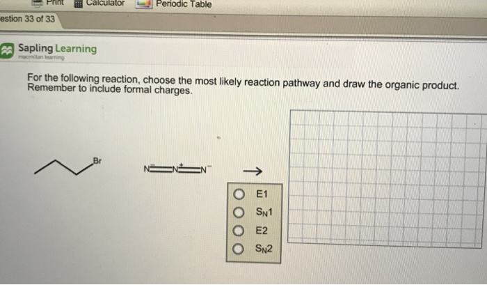calculator d periodic table pnnt estion 33 of 33 sapling learning ng reaction choose - Periodic Table Formal Charges