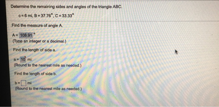 how to find remaining angles of a right angle triangle