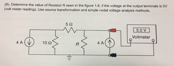 Voltage Nodal Analysis In Simple Circuit Electrical Engineering