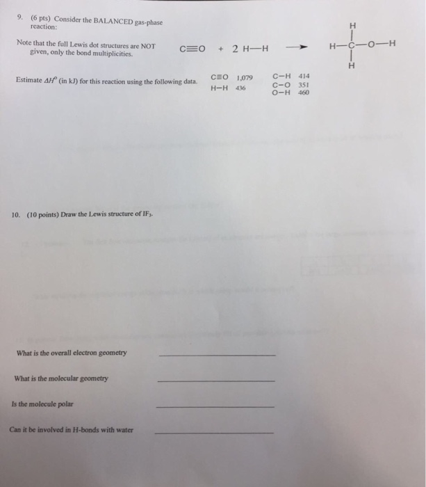 Protist Worksheet Answers Word Chemistry Archive  June    Cheggcom Counting On Worksheets Pdf with Math Worksheets Grade 3 Printable   Pts Consider The Balanced Gasphase Reaction Note That The Add And Subtract Fractions Worksheets Word