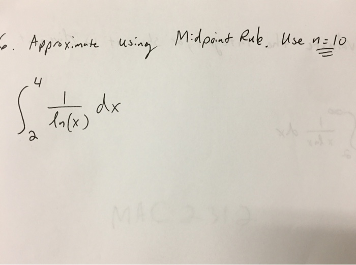 how to find midpoint integral