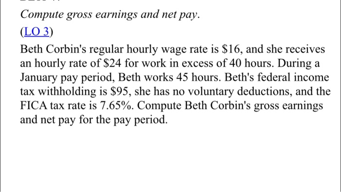 how to work out net pay from gross