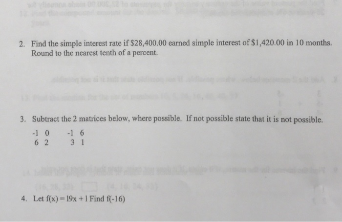 Solved: Find The Simple Interest Rate If $28,400.00 Earned...