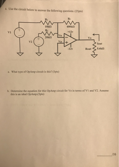 Electrical engineering archive february 26 2018 chegg use the circuit below to answer the following questions 25pts rr fandeluxe Gallery
