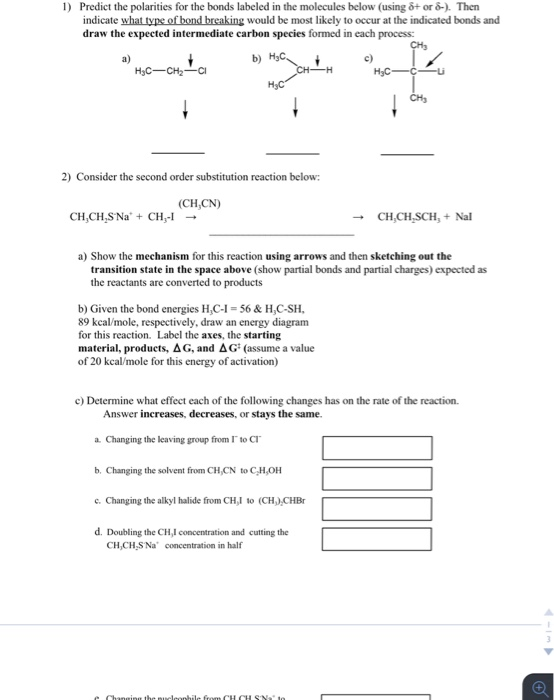 Predict The Polarities For The Bonds Labeled In Th – Predicting Products Worksheet Answers