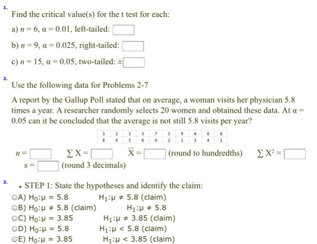 statistics homework answers