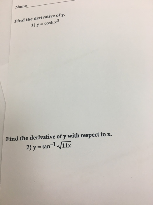 calculus archive com essay write your answer in the space provided or on a separate sheet of paper the derivative of y cos 710 1 y 10 the derivative of y x 2 y