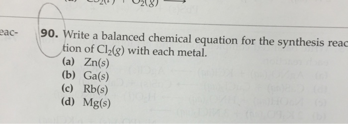 write a balanced equation