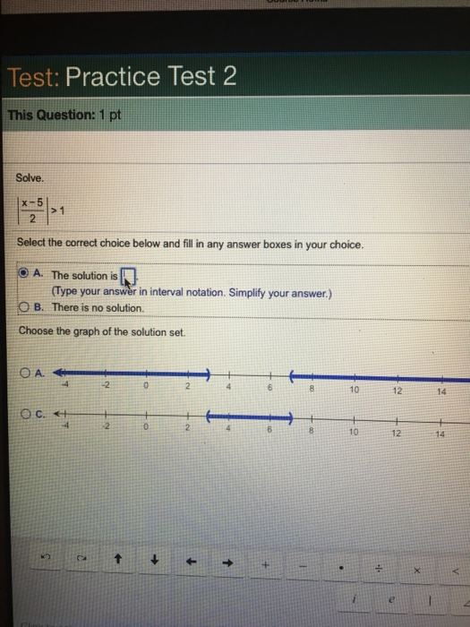 precalculus practice test