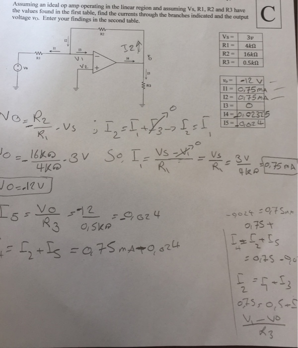 Solved Assuming An Ideal Op Amp Operating In The Linear R