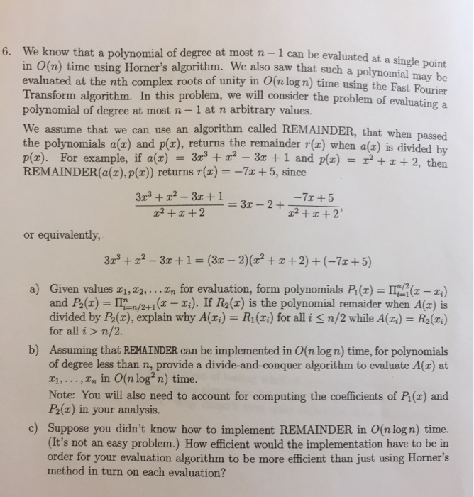 Degree Of The Ocean And Efficient N: Solved: We Know That A Polynomial Of Degree At Most N