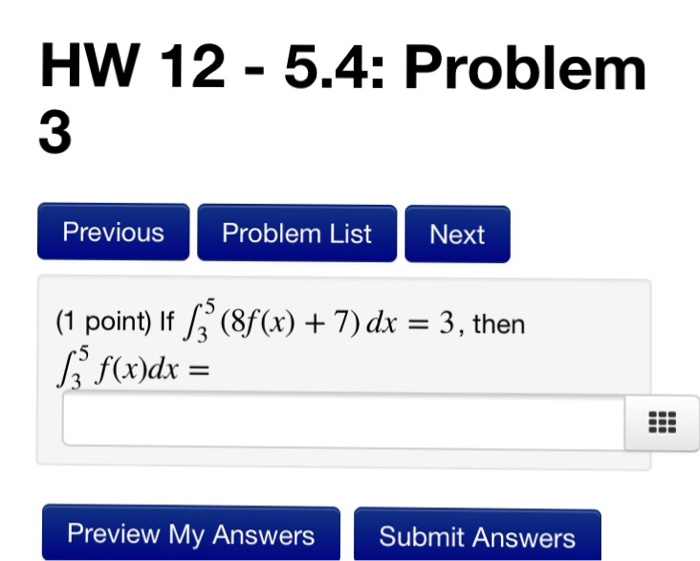 Calculus archive november 16 2017 chegg hw 12 54 problem 3 previous problem list next 1 point if fandeluxe Images