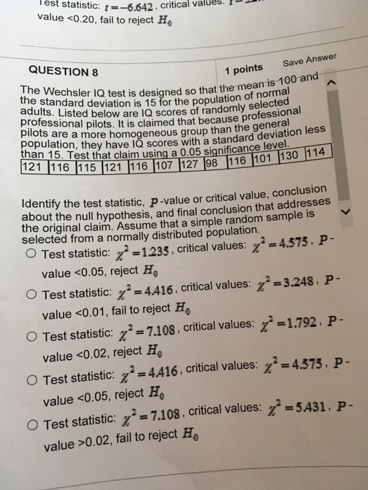 Solved: The Wechsler IQ Test Is Designed So That The Mean ...